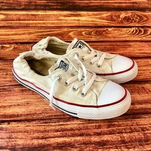 Converse All Star White Low Heel Sneakers